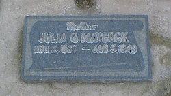 Julia Luella <I>Guymon</I> Maycock