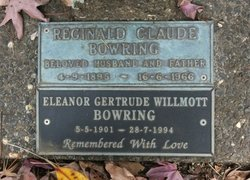 Eleanor Gertrude Willmott <I>Levick</I> Bowring