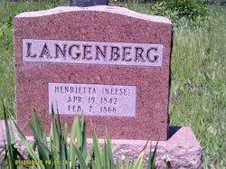 Henriette <I>Neese</I> Langenberg