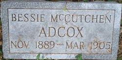 Bessie Alexine <I>McCutchin</I> Adcox