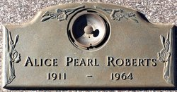 Alice Pearl <I>Cook</I> Roberts
