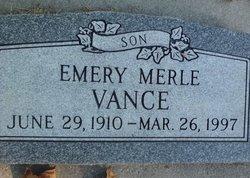 Emery Merle Vance