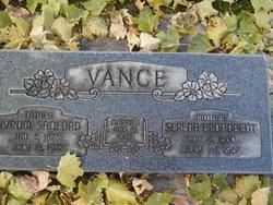 Serena <I>Broadbent</I> Vance