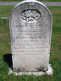 Sarah <I>Erdman</I> Alspach
