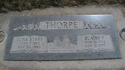 Edna <I>Starr</I> Thorpe