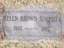 Helen <I>Brown</I> Simpson
