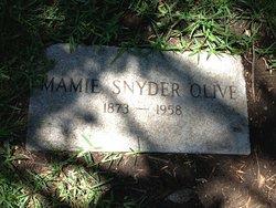 Mamie <I>Snyder</I> Olive
