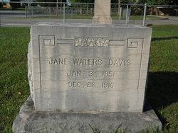 Jane <I>Waters</I> Davis