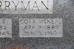 Corah Serena Nancy Jane <I>McNeal</I> Berryman