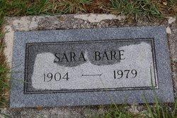 Sara <I>Zook</I> Bare