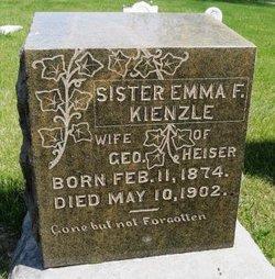Emma Friederika <I>Kienzle</I> Heiser