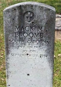Pvt Mack Moore Broome