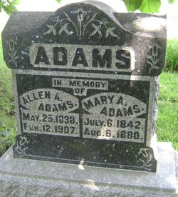 Mary Abigail <I>Morlan</I> Adams