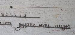 Martha Myrl <I>Young</I> Hollis