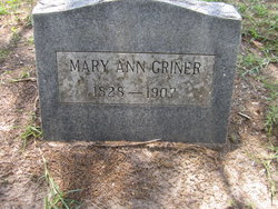 Mary Ann <I>Nelms</I> Griner