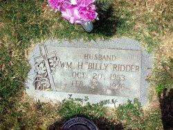"""William H. """"Billy"""" Ridder"""