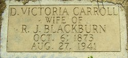 D. Victoria <I>Carroll</I> Blackburn