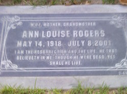 Ann Louise <I>Burgner</I> Rogers