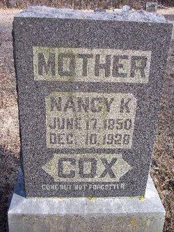 Nancy Katherine <I>Hankins</I> Cox