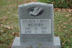 Elizabeth Teresa <I>Brown</I> Welborn