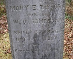Mary Emma <I>Taylor</I> Sampson