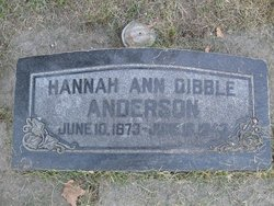 Hannah Ann <I>Dibble</I> Anderson