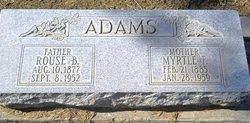 Myrtle Flowers <I>Applegate</I> Adams