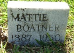 Mattie <I>Crouch</I> Boatner