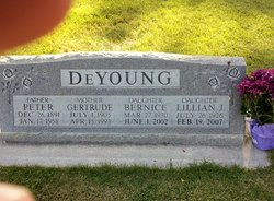 "Geertje ""Gertrude"" <I>Dallinga</I> De Young"