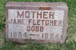 Jane <I>Fletcher</I> Cobb