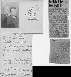 Frances Susan <I>Crowell</I> McDaid