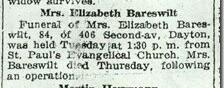 Elizabeth <I>Kerth</I> Bareswilt