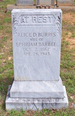 Alice D. <I>Burris</I> Barbee