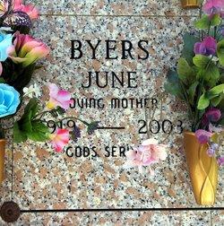 June Lucille <I>Webber</I> Byers