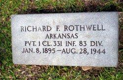 PFC Richard F Rothwell