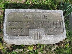 Bertha Amelia <I>Sitte</I> Mehnert