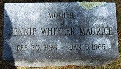 Jennie <I>Wheeler</I> Maurice