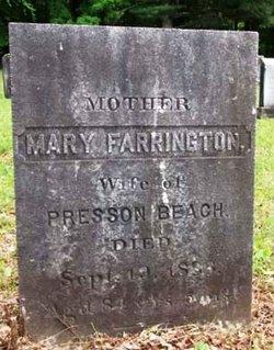 Mary <I>Farrington</I> Beach
