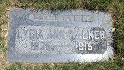 Lydia Ann <I>Horne</I> Walker