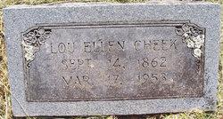 """Lou Ellen """"Ellen"""" <I>Brown</I> Cheek"""