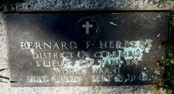 Lieut Bernard Francis Herbert