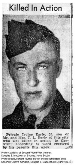 "Private Thomas Irvine ""Irv"" Earle"