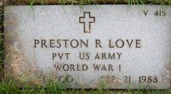 Preston R Love