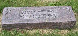 Joseph W Achenbach