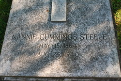 Nannie <I>Cummings</I> Steele