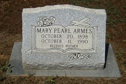 Mary Pearl <I>Sutton</I> Armes