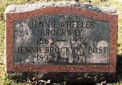 Jennie <I>Wheeler</I> Brockway