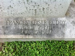 Frances <I>Keiser</I> Ruddy