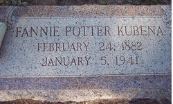 Fannie Jane <I>Potter</I> Kubena