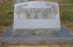 Ethel L. Plant Acker